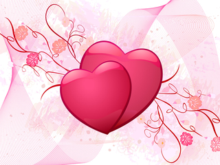 love, valentine - wallpaper for girls - 320x240